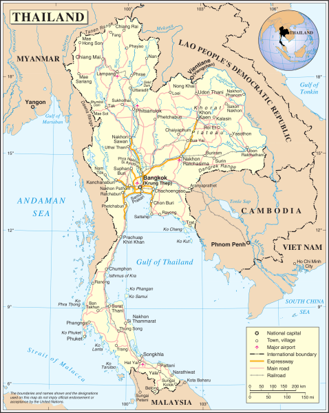 UN Map of Thailand