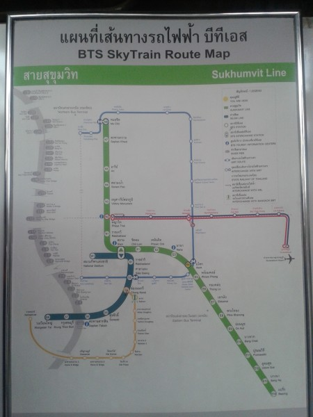 BTS Skytrain Route Map